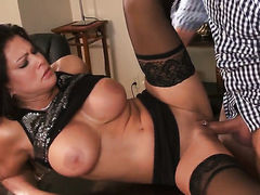 Teri Weigel with massive knockers and horny
