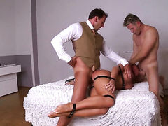 Warm woman Kathia Nobili gets her