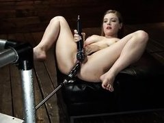 the busty blonde squeals like a dirty bitch while getting fucked