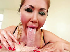 Asian Kianna Dior with big hooters is ready to spend