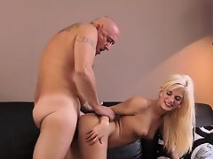 Adorable blowjob first time Horny platinum-blonde wants to t