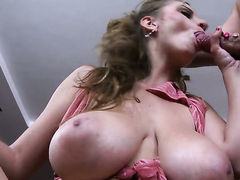 Sun Suzie with gigantic hooters is totally addicted to cum