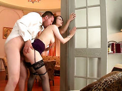 Brunette Beata Undine has some dirty fantasies to be fulfilled with guys rock solid meat pole in her mouth