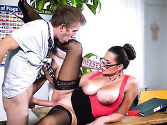 Sensual Jane with giant melons wants Danny Ds sausage to fuck her pussy hard