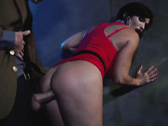 Shay Fox with huge jugs does her best to make hard cocked dude Danny D cum