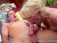 Exotic pornstar in Amazing Blonde, Cunnilingus xxx scene