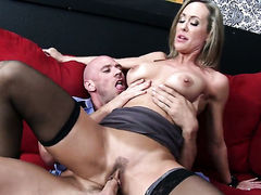 Hot bodied doll Brandi Love with giant tits makes her sex