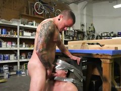 gay slave is a tied up sex toy