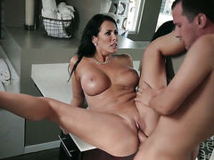 Brunette makes a dream of never-ending cock sucking a reality