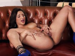 sensual abella has fun alone
