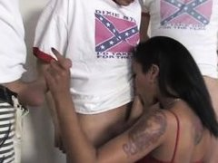 skin diamond sucks off some angry white boys