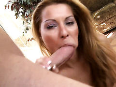 Lustful hoochie Cindy Hope offers her fuckable mouth to hard dicked guy