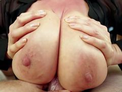 Good looking asian MILF Kianna Dior gets her huge tits