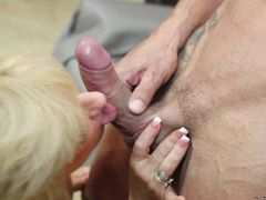 Blonde granny Zena Rey is fucking horny. mature woman with