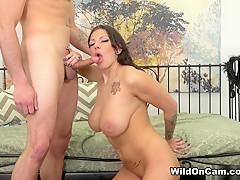 Horny pornstars Damon Dice, Lylith Lavey in Crazy College, Brunette porn movie