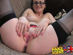 FakeAgentUK Creampie for hot european girl