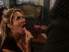 Jessica drake makes guy happy by sucking his sturdy snake