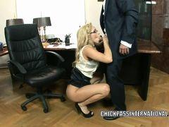 Euro slut Aleska Diamond lifts her skirt to get fucked