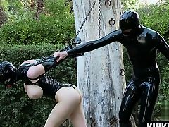 Big tits slave bondage slave and cumshot