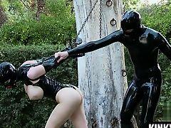 Big tits slave bondage slave and cumshot