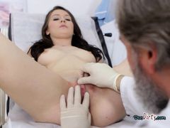 Chick Gets Examined By Dirty Old Physiologist