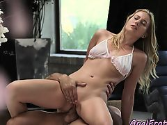 Eurobabe assfucked slowly and sensually