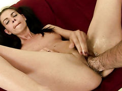 Brunette Betty Stylle does it with