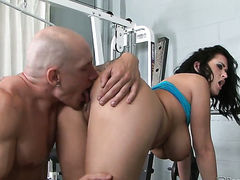 Domenic Kane wraps her lips around guys erect schlong