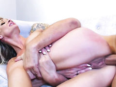 Keiran Lee gets turned on by Blonde harlot with huge