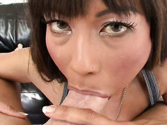 Exotic is so wet and so horny in interracial