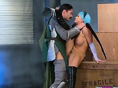 Luscious Nymph Abigail Mac Gets Humped By A Knight