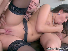 Hottest pornstar in Exotic DP, Stockings xxx clip