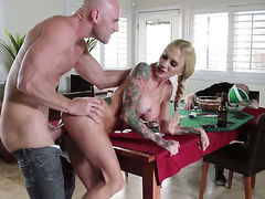 Johnny Sins buries his rock solid