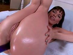 Big ass fuck with Dana. She is a sexy milf all oiled up and looking for