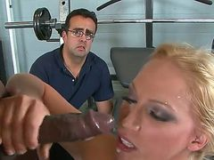 She does it as her husband watches. It is a big turn on for this redhead and
