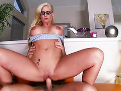Phoenix Marie with massive knockers and trimmed snatch