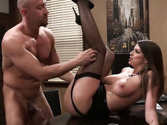 Brooklyn Chase gets covered in man semen