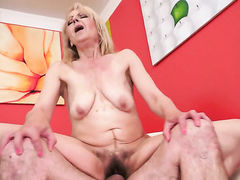 Blonde has a good time fucking with horny fuck buddy