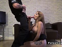 Fake cop bangs massive tits cheating wife