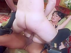 Fabulous pornstar in horny dp, facial sex movie