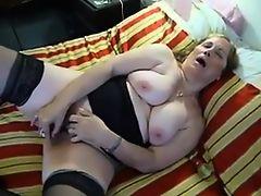 Masturbation of busty amateur granny Lucia