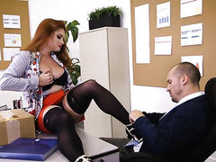 Redhead Lennox Luxe with juicy hooters gets