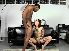 Stake And Blowjob - Slutty Silvia Rubi Eating A Huge Shaft