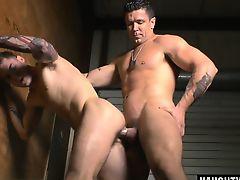 Big cock gay anal sex and cumshot