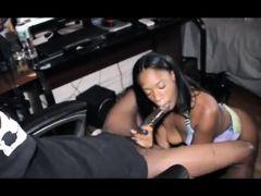 Ebony giving black king sloppy toppy