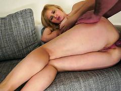 Blonde bombshell enjoys another hardcore session with hot dude