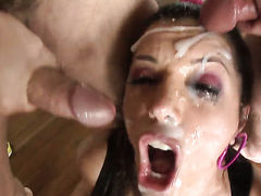 Lucky Starr has oral fun with horny guy