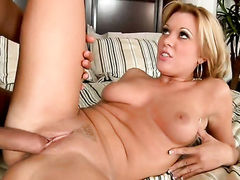 Blonde latin Ashley Hay gives herself some muff