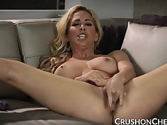 CrushGirls - Cherie Deville masturbating for her stepson