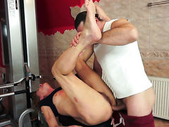 Blonde is a blowjob addict that loves guys throbbing dick